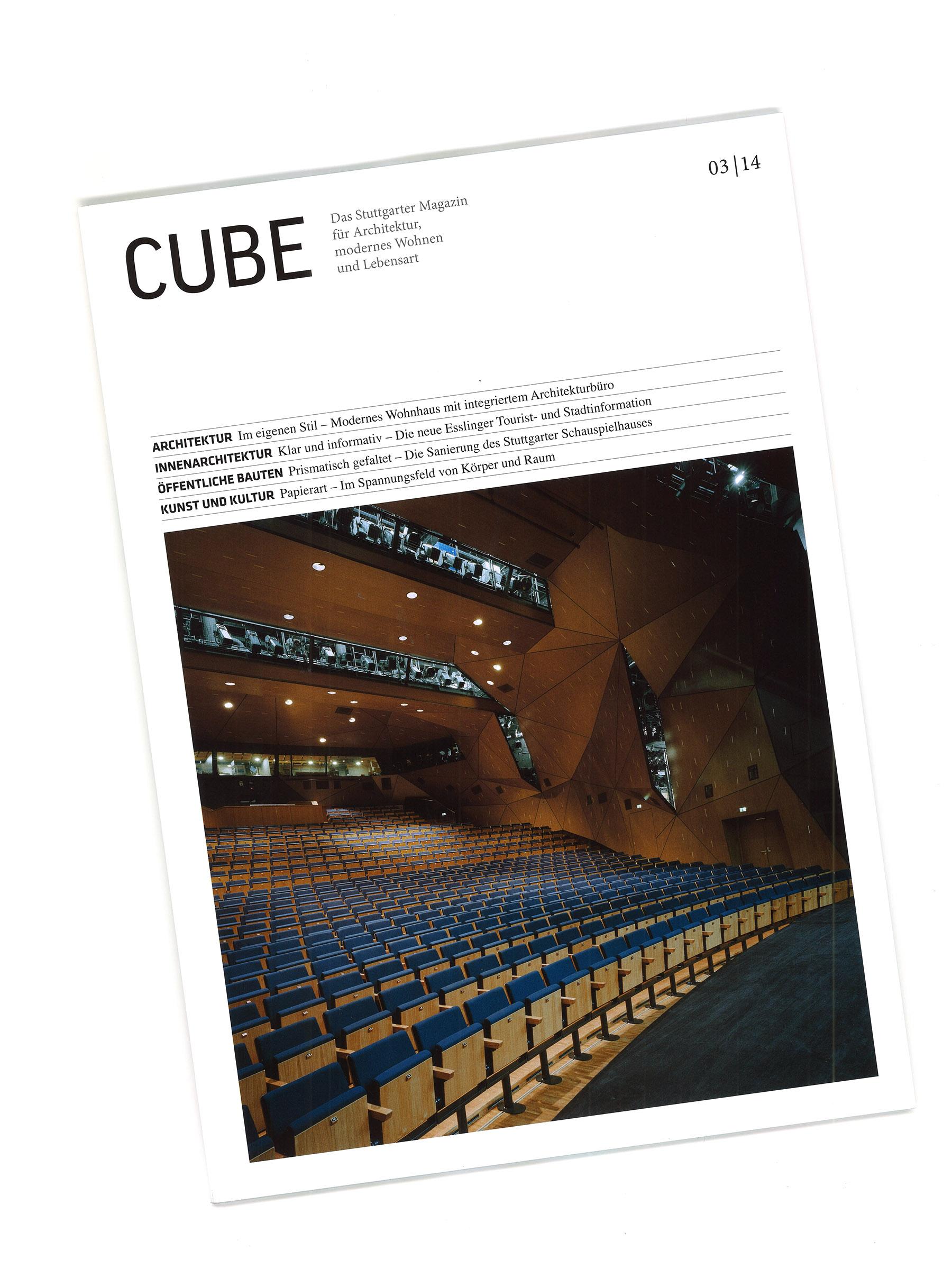 staatstheater stuttgart auf dem cover des cube magazins